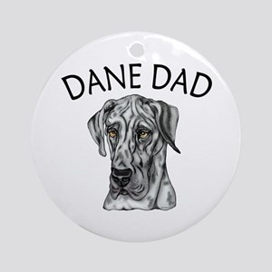 Great Dane Dad Merle UC Ornament (Round)
