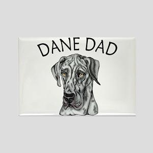 Great Dane Dad Merle UC Rectangle Magnet