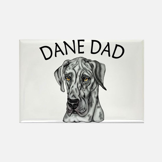 Great Dane Dad Merle UC Rectangle Magnet