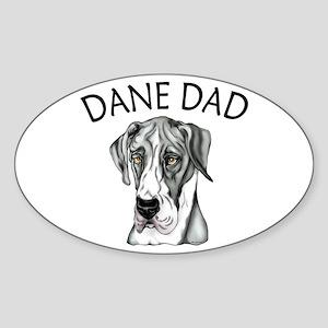Great Dane Dad Mantle UC Oval Sticker