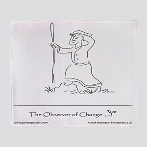 The Observer of Change Throw Blanket