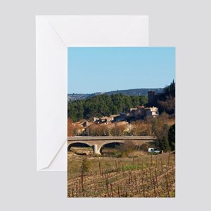 The cathare hilltop chateau in Durba Greeting Card