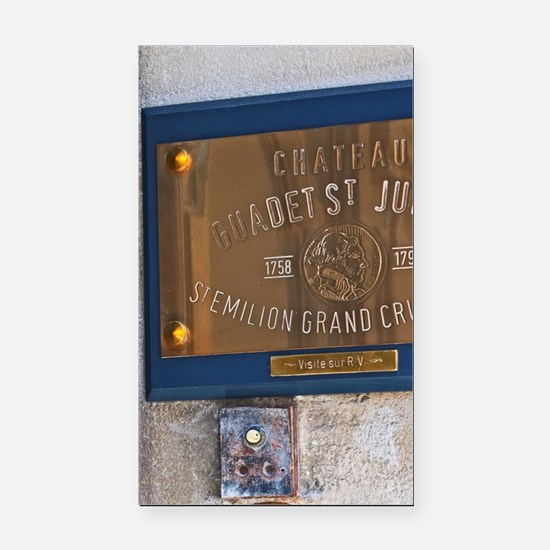 Polished Brass sign indicatin Rectangle Car Magnet