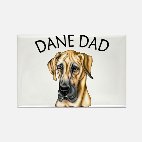 Great Dane Dad Fawn UC Rectangle Magnet