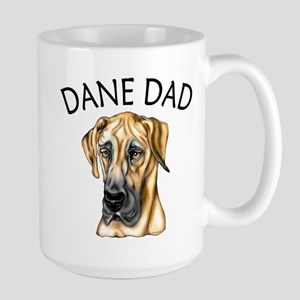 Great Dane Dad Fawn UC Large Mug