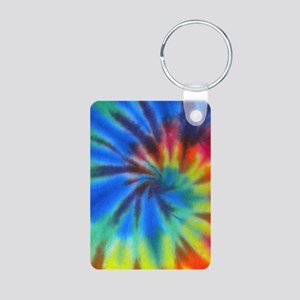 Blue Spiral iTouch Aluminum Photo Keychain