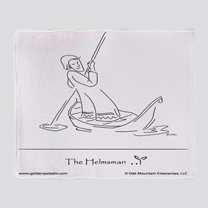 The Helmsman1 Throw Blanket