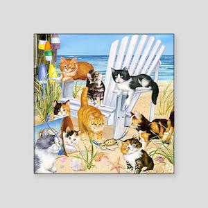 Cats on the Beach Sticker