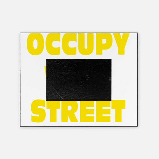 occupy wall street yellow Picture Frame