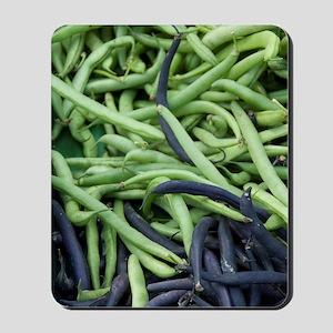 Open-air farmer's market, Frence beans.e Mousepad
