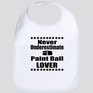 Never Underestimate Paint Ball Lov Cotton Baby Bib