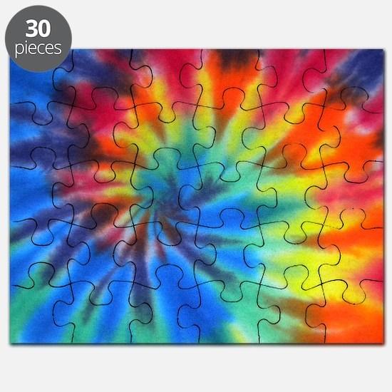 Blue Spiral Laptop Puzzle
