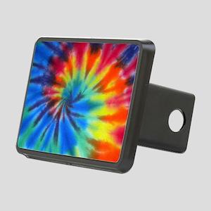 Blue Spiral Laptop Rectangular Hitch Cover