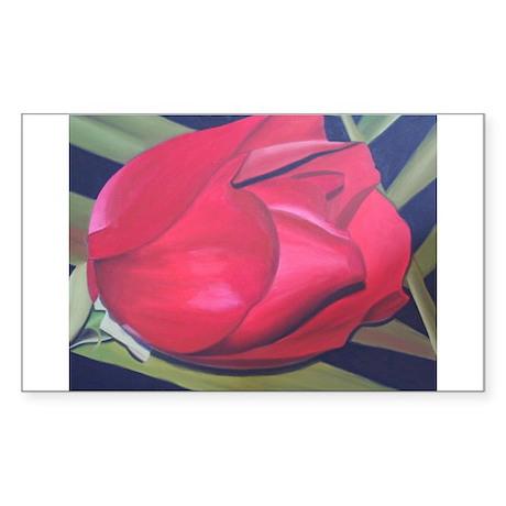 (A Rose for a Veteran) Rectangle Sticker