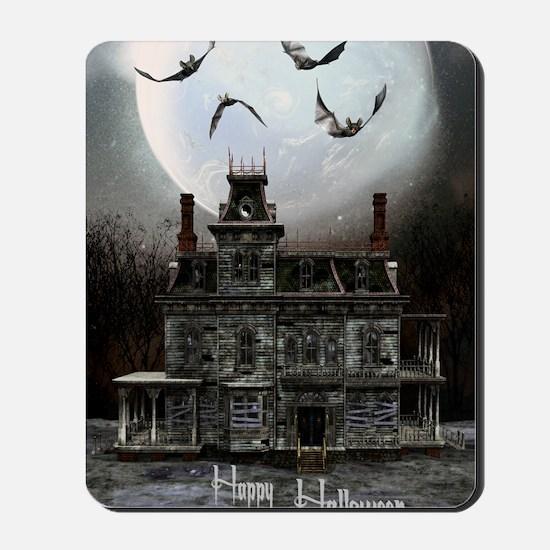 haunted_house_3_greeting_card_192_V_F Mousepad