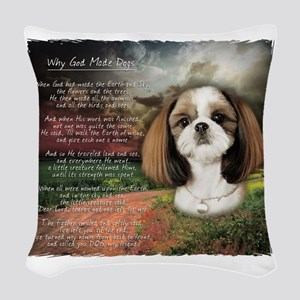 godmadedogs2 Woven Throw Pillow