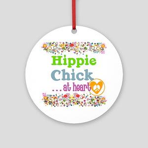 pillow-hippie-chick Round Ornament