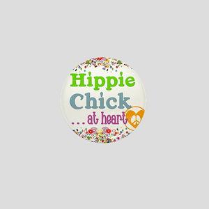 pillow-hippie-chick Mini Button