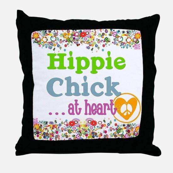 pillow-hippie-chick Throw Pillow
