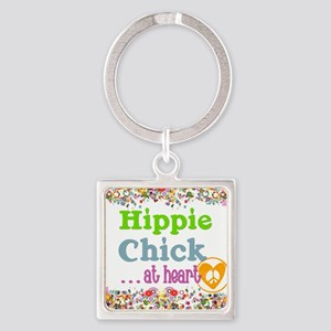 pillow-hippie-chick Square Keychain