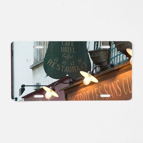 Bistrot Les Sans Coulottes  Aluminum License Plate