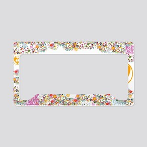 lg-hippie-chick License Plate Holder