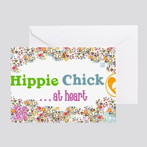 lg-hippie-chick Greeting Card