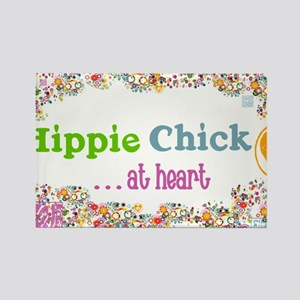 lg-hippie-chick Rectangle Magnet
