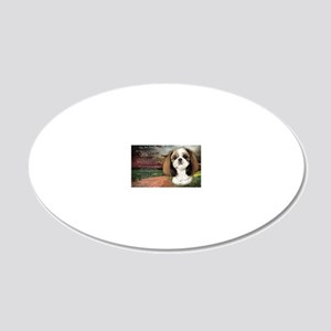 godmadedogs(laptop) 20x12 Oval Wall Decal