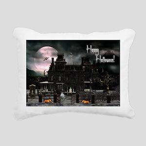 haunted_house_greeting_c Rectangular Canvas Pillow