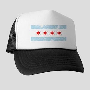 Chicago Flag Vintage Style Trucker Hat