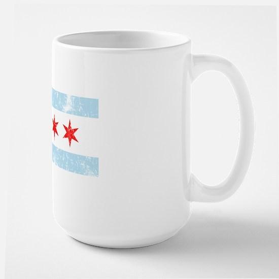 Chicago Flag Vintage Style Large Mug