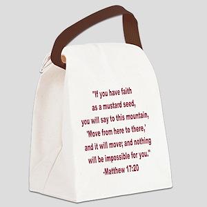 Faith as a Mustard Seed Canvas Lunch Bag