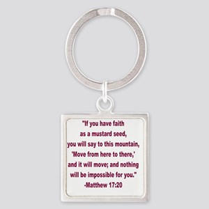 Faith as a Mustard Seed Square Keychain