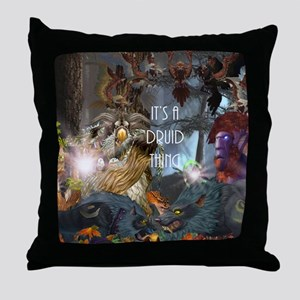 Druid-full---CNC1 Throw Pillow