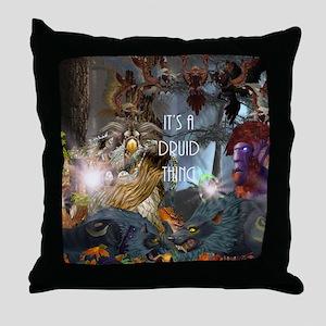 Druid-full---CNC1 Throw Pillow