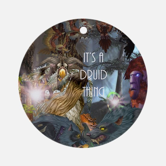 Druid-full---CNC1 Round Ornament