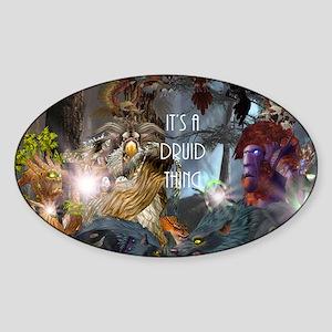 Druid-full---CNC1 Sticker (Oval)