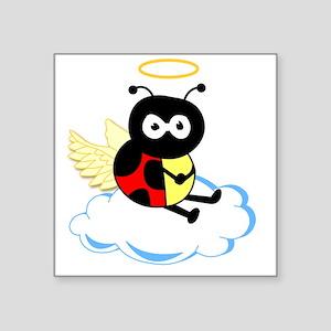 "angel_ladybug Square Sticker 3"" x 3"""