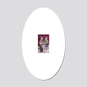 Birthday Card Front 20x12 Oval Wall Decal