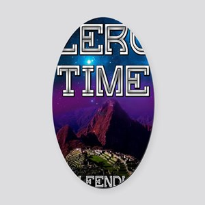Zero Time Oval Car Magnet