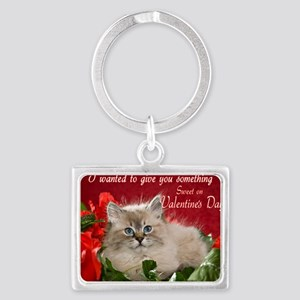 Valentines Card Front Landscape Keychain
