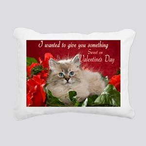 Valentines Card Front Rectangular Canvas Pillow