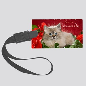 Valentines Card Front Large Luggage Tag