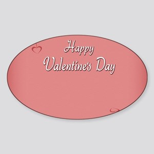 Valentines  Card Inside Sticker (Oval)