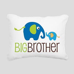 Elephants2BigBrotherV2 Rectangular Canvas Pillow