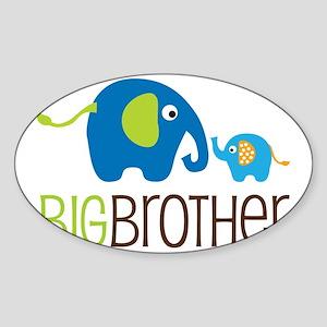 Elephants2BigBrotherV2 Sticker (Oval)