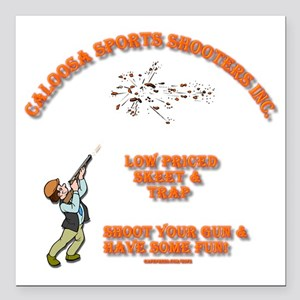 "caloosa_sports_shooters_ Square Car Magnet 3"" x 3"""