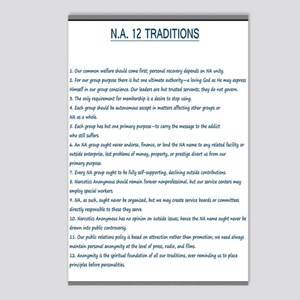 N.A. 12 Tradition Posters Postcards (Package of 8)