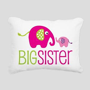 Elephants2BigSisterV2 Rectangular Canvas Pillow